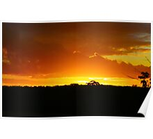 Sunset in Outback Australia Poster