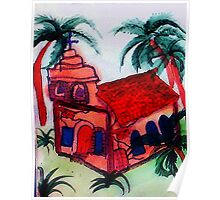 The Old Church still open, watercolor Poster