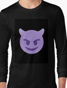 purple devil emoji Long Sleeve T-Shirt