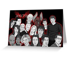 Angel character collage  Greeting Card