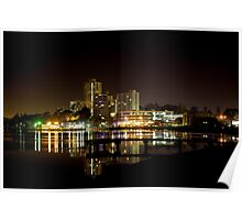 South Perth Foreshore at Night Poster