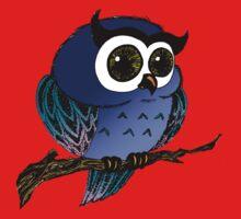 Blue Owl One Piece - Short Sleeve
