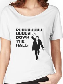 """Ruuuun down the hall"" Women's Relaxed Fit T-Shirt"