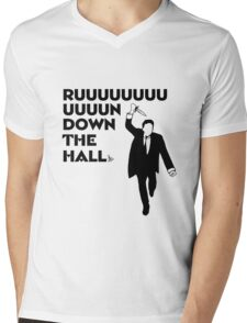 """Ruuuun down the hall"" Mens V-Neck T-Shirt"