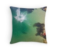 Big Drop in the ocean Throw Pillow