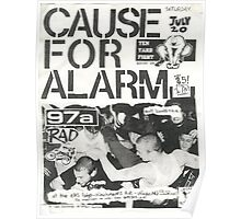 cause for alarm 97a rad ten yard fight show flyer Poster