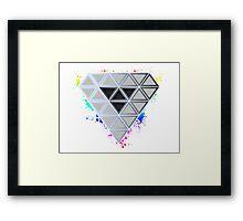Rainbow Splash Diamond Framed Print