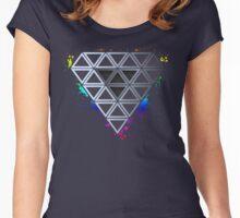 Rainbow Splash Diamond Women's Fitted Scoop T-Shirt