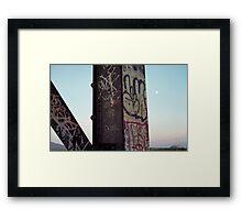 Trestle Moon Framed Print