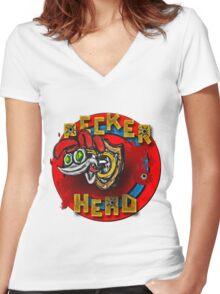 Peckerhead Women's Fitted V-Neck T-Shirt