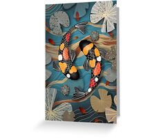 Koi Watergarden Greeting Card