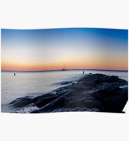 incoming tide sunrise Poster