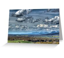 Distant Mountains Greeting Card