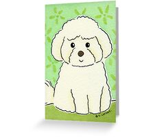 Bichon Frise Dog Greeting Card