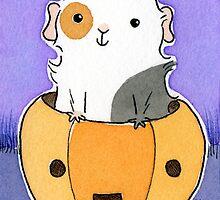 Guinea-pig in a Pumpkin Head by zoel