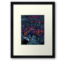 Faces amongst the crowd Framed Print