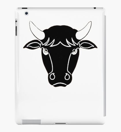 Bull Portrait Vector iPad Case/Skin