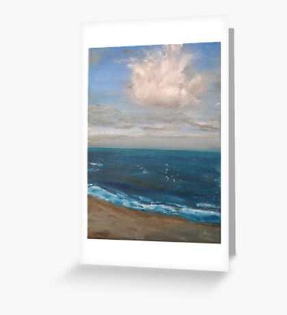 Beach - realist oil on canvas, seascape Greeting Card