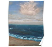 Beach - realist oil on canvas, seascape Poster