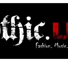 Gothic.Life (striped) Sticker