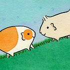 Two Guinea-pigs on a Hill  by zoel