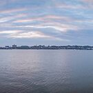 Panorama Manitowoc Harbor At Sunset by Thomas Young