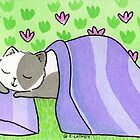 Cat Napping in the Garden by zoel