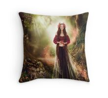 Annelise - In the Faerie Realm Throw Pillow