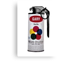 Gary Gorilla Can Grenade Canvas Print