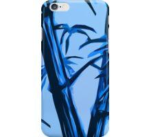 blue geometric bamboo iPhone Case/Skin