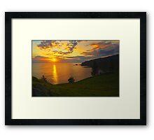 Duncome Bay Sunrise - Norfolk Island Framed Print