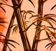 orange geometric bamboo by Xander Player