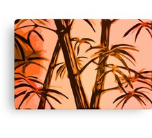 orange geometric bamboo Canvas Print