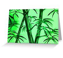 green geometric bamboo Greeting Card