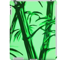 green geometric bamboo iPad Case/Skin