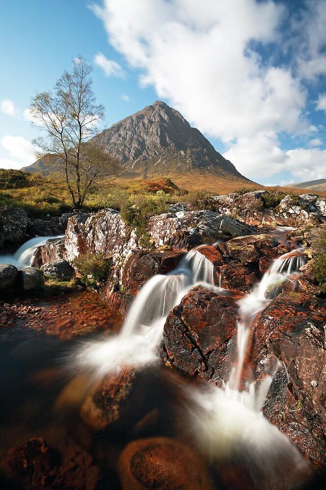 Mountain waterfall, Glencoe by Grant Glendinning