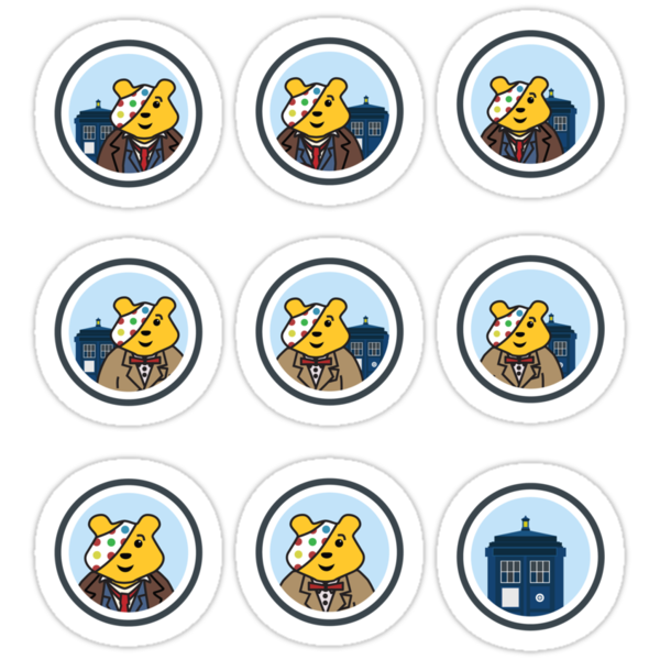 Doctor who pudsey bear stickers ... all profit goes to children in need by Scott Barker