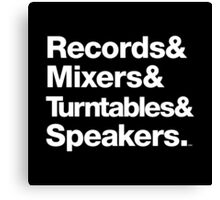 Dr. Dre & Records & Turntables Classic Threads Canvas Print