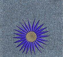 Blue daisy on blue background iphone case by KatDoodling