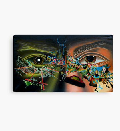 """Surrealism's Bridge - oil on canvas - 48"""" x 28"""" Canvas Print"""
