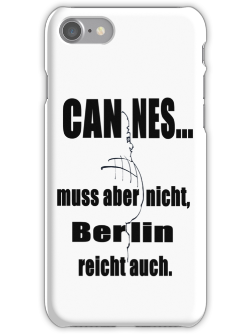 Cannes Berlin (iPhone & Tshirt Design) by Hallo Wildfang