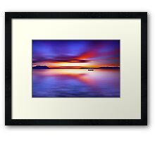 Anchored for the Night Framed Print