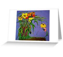 Alien Blooms Greeting Card