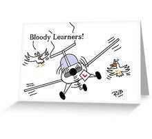 Flying Learner Greeting Card