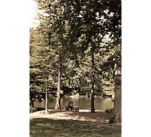 Romance in the Park Photographic Print