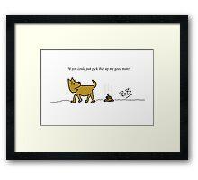 Dog Poo! Framed Print