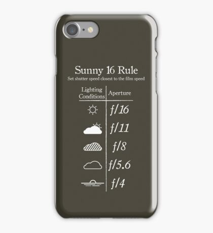 Sunny 16 Rule - White iPhone Case/Skin