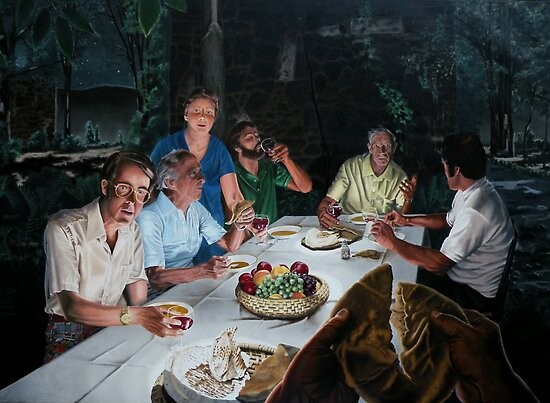 "The Last supper - oil on canvas - 72"" x 52""  by Dave Martsolf"