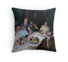 "The Last supper - oil on canvas - 72"" x 52""  Throw Pillow"