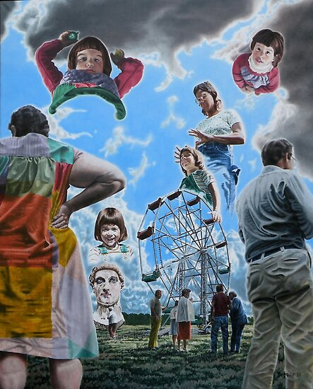 "Surrealism and the Ferris Wheel - oil on canvas - 47"" x 58"" by Dave Martsolf"